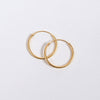 Product shot of the Pernille Corydon Gold Plated Mini Plain Hoop Earrings