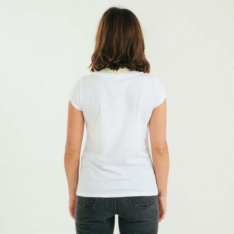 Studio Mads Nørgaard Favourite Teasy White Organic T-Shirt, back view