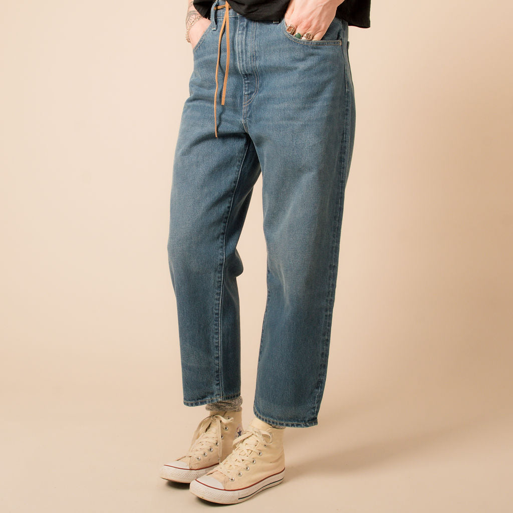 Levi's Made & Crafted Barrel Crop Provincial Blue Jeans