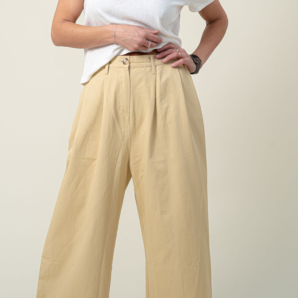 L.F Markey Oatmeal Jorgen Trousers