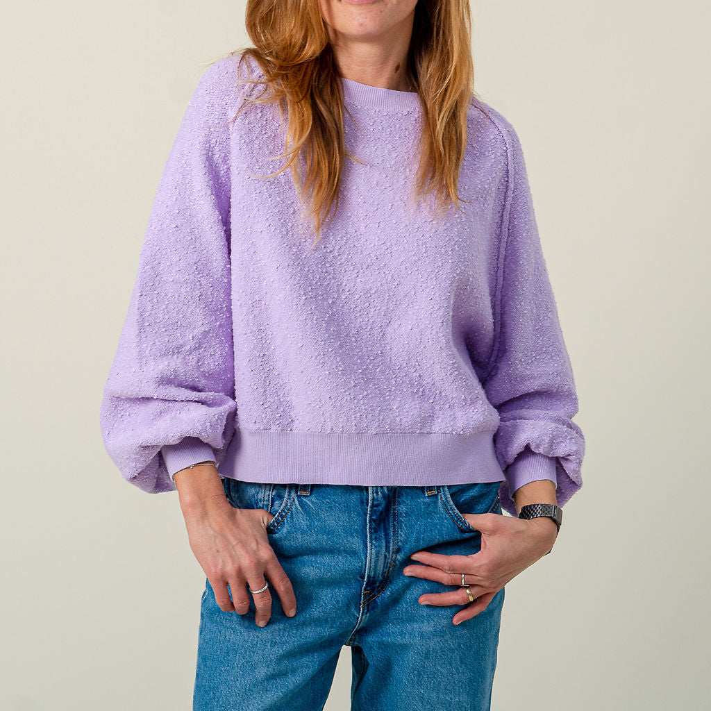 Free People Found My Friend Lilac Sweatshirt