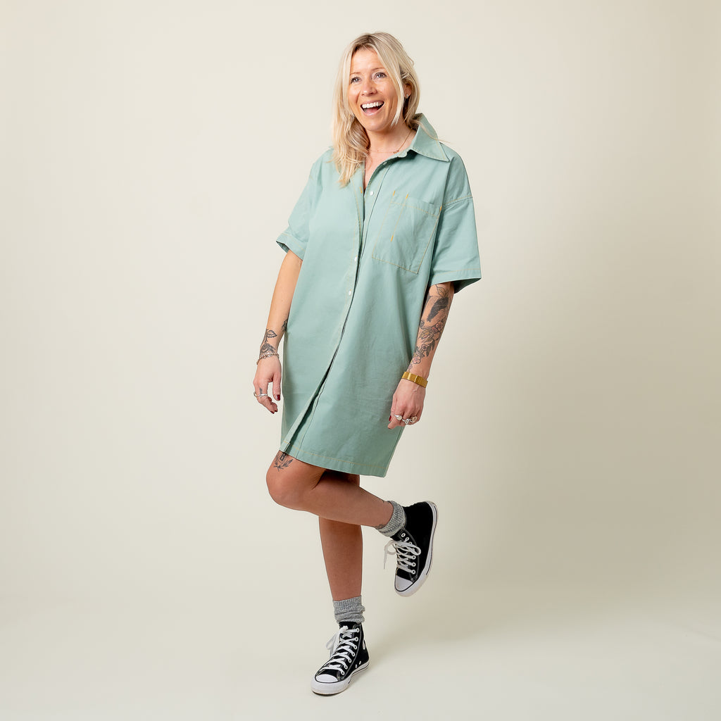 L.F. Markey Duck Egg Elias Dress
