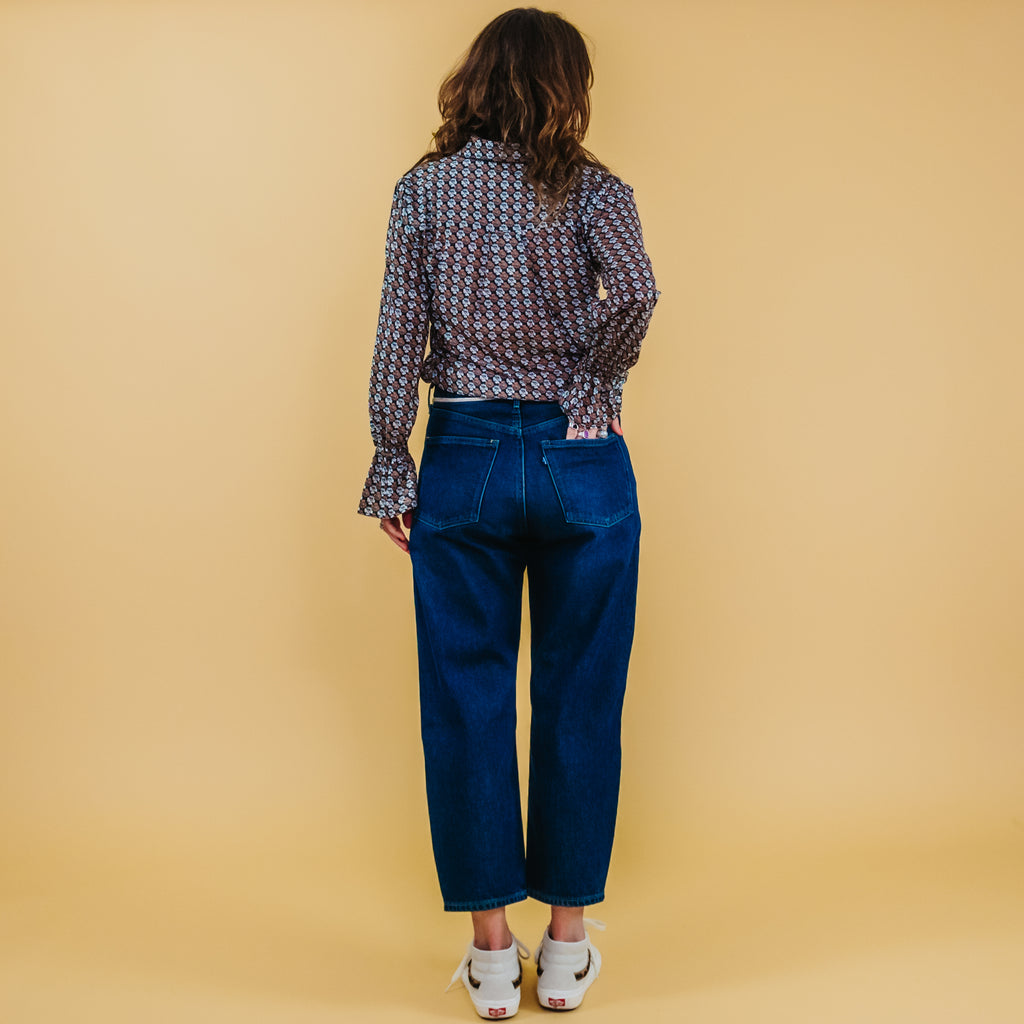 Levi's Made & Crafted Barrel Crop Rails Blue Jeans