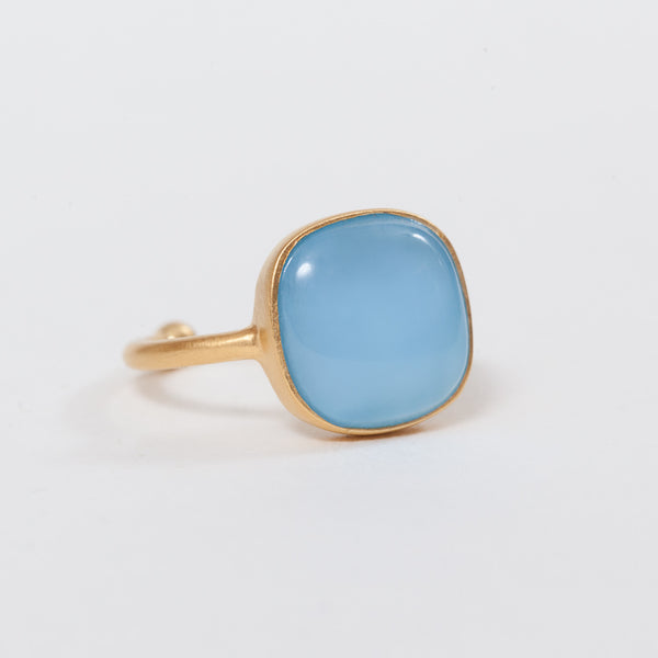 Product shot of Pernille Corydon Chalcedony Blue Ring