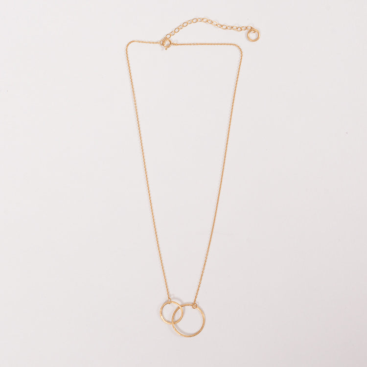 Product shot of the  Pernille Corydon Double Plain Gold Necklace