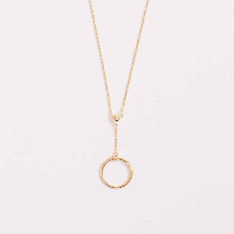 Product shot of the Pernille Corydon Corona Short Gold Necklace