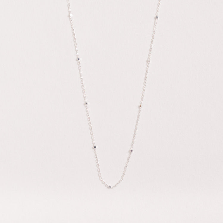 Product shot of the Pernille Corydon Saturn Silver Necklace