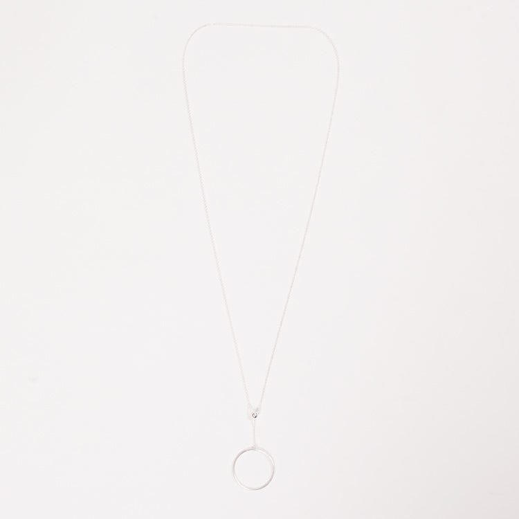 Product shot of Pernille Corydon Corona Long Silver Necklace