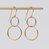 Product shot of the Pernille Corydon Double Circle Gold Hook Ear