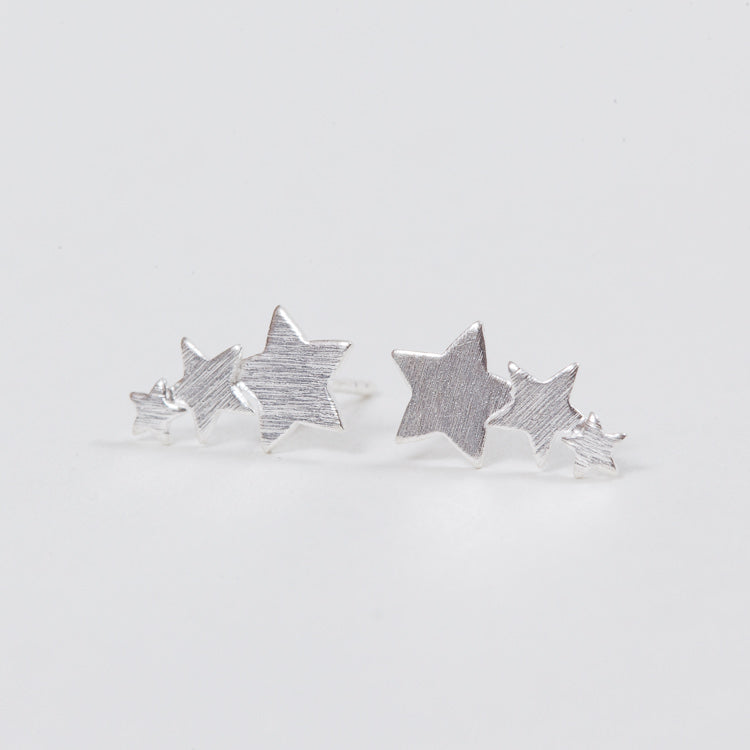 Product shot of the Pernille Corydon Shooting Stars Silver Earrings