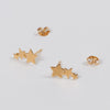 Product shot of the Pernille Corydon Shooting Stars Gold Earrings