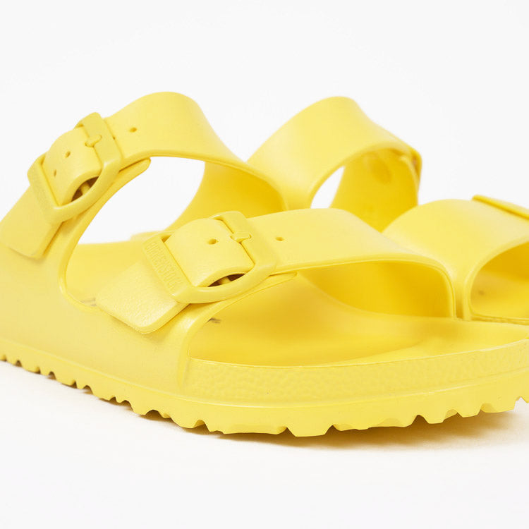 Birkenstock Arizona EVA Vibrant Yellow Narrow Fit Sandals - detail shot