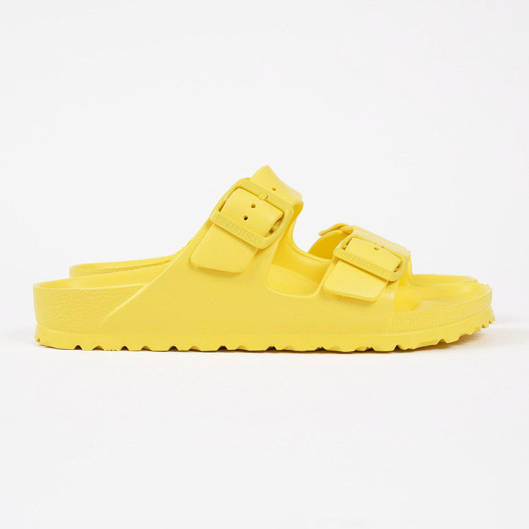 Birkenstock Arizona EVA Vibrant Yellow Narrow Fit Sandals - profile view