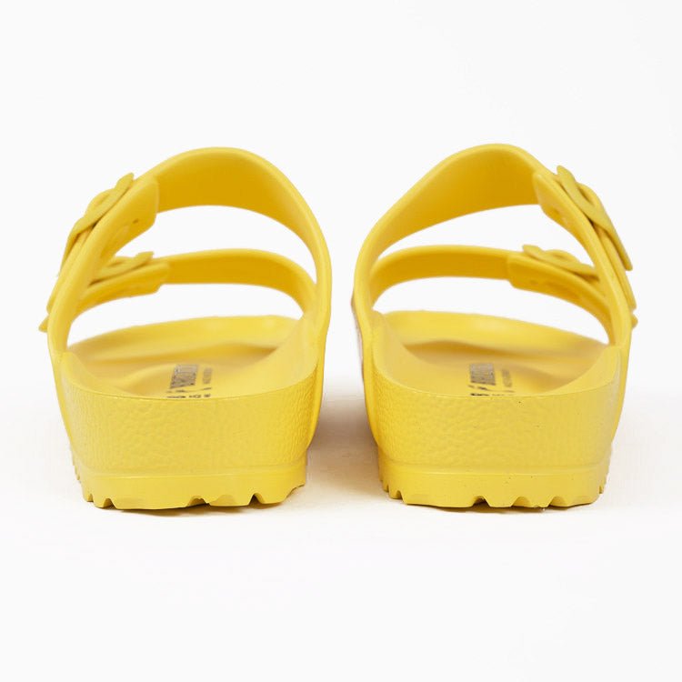 Birkenstock Arizona EVA Vibrant Yellow Narrow Fit Sandals - back heel view