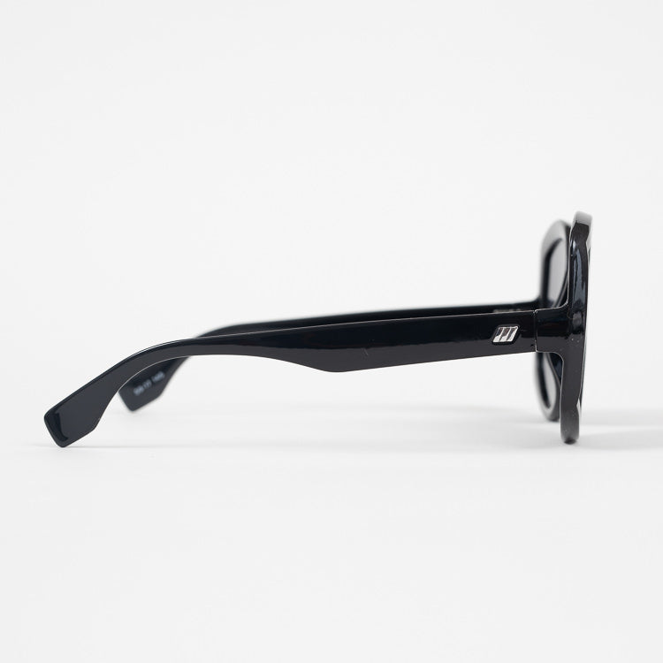 Le Specs Illumination Black Sunglasses - profile view