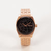 Nixon Medium Time Teller Rose Gold Black Cheetah Watch