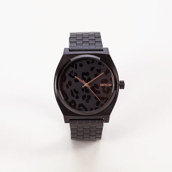 Nixon Time Teller Black Cheetah Watch
