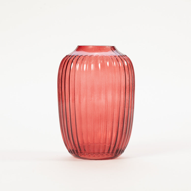 Product shot Bloomingville Red Glass Vase