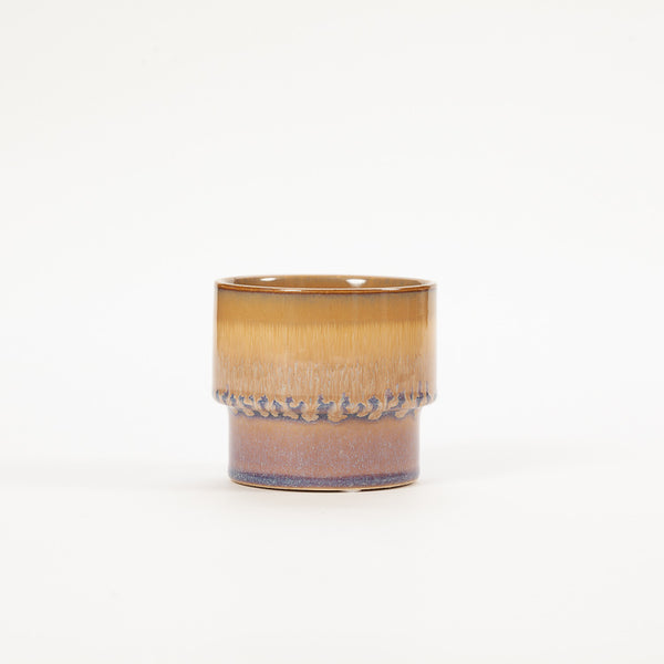 Product shot: Bloomingville Brown Blue Drip Stoneware Flowerpot