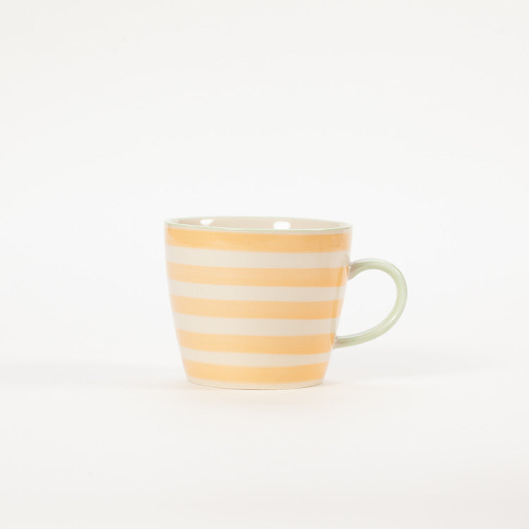 Product shot: Bloomingville Miami Orange Stripe Stoneware Mug