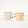 2 patterned stoneware mugs from Nordic homeware brand Bloomingville