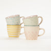 Group shot of 4 patterned Bloomingville Patrizia Mugs