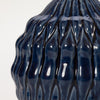 Detail shot of Bloomingville Blue Stoneware Vase