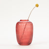 "Product shot"" Bloomingville Red Glass Vase with single flower stem"
