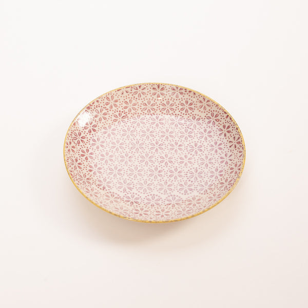 Product shot: Bloomingville Patrizia Purple Floral Small Plate
