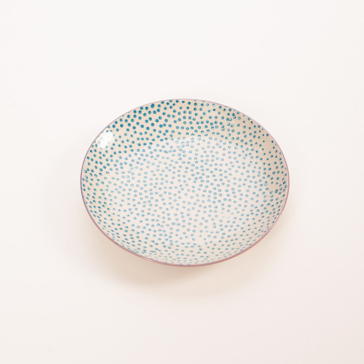 Product shot: Bloomingville Patrizia Blue Polka Dots Small Plate