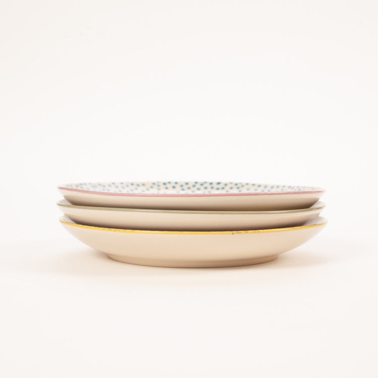 Product shot: 3 stacked Bloomingville Patrizia Small Plates