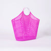 Sun Jellies Large Pink Fiesta Shopper - side on white background