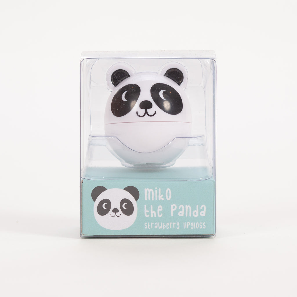 Product shot of Rex London Miko The Panda Lip Gloss in packaging