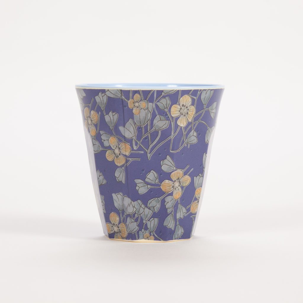 Rice Medium Purple Two Tone Hanging Flower Print Cup