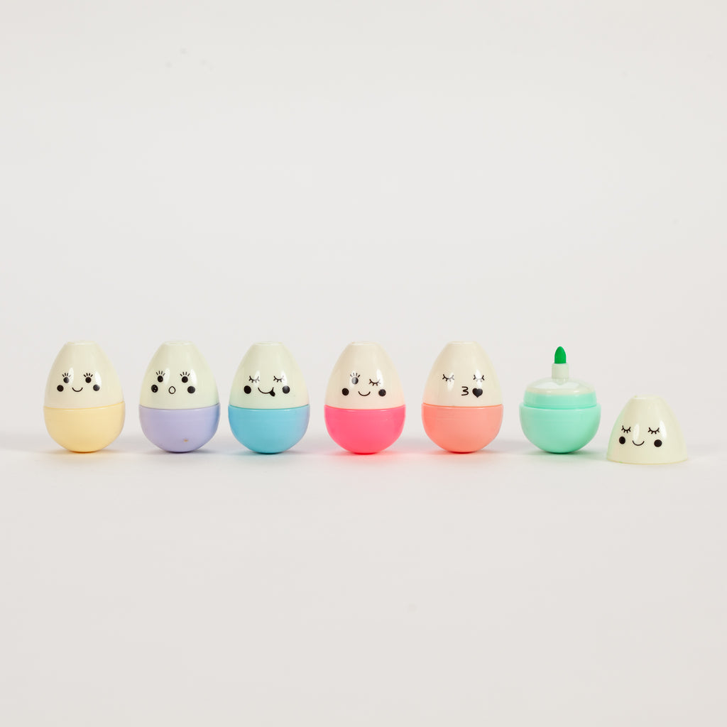 Product shot of Rex London Emoji Egg Pens (Pack Of 6)