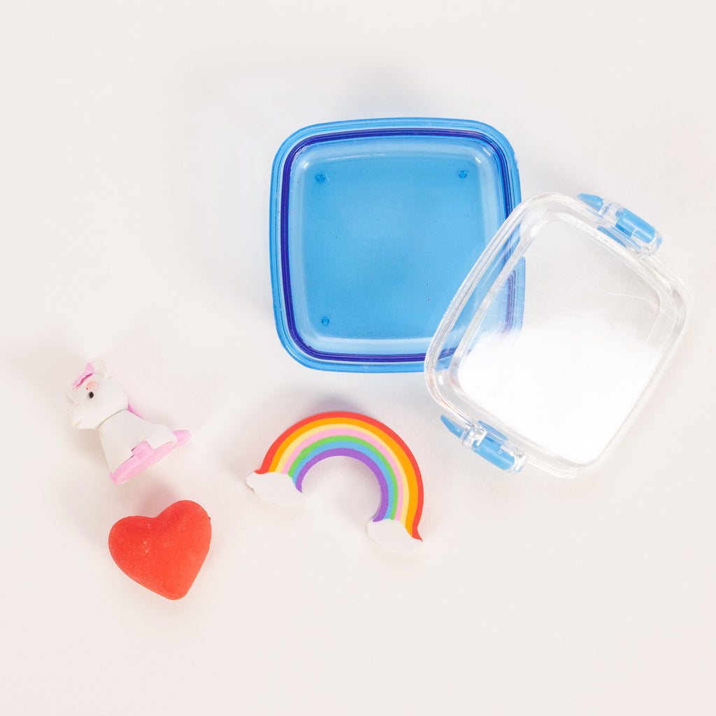 Product shot of Rex London Magical Unicorn Mini Eraser Set