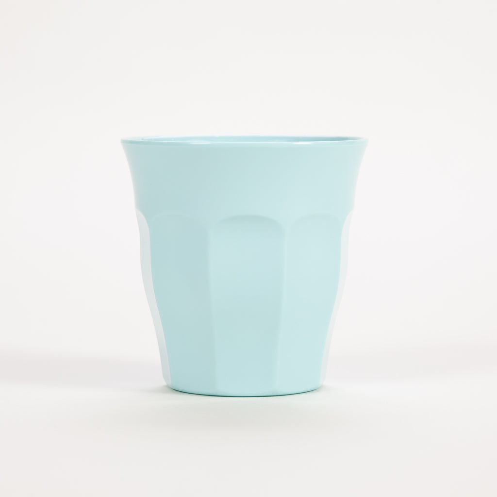 Product shot of Rice Medium Soft Blue Print Cup
