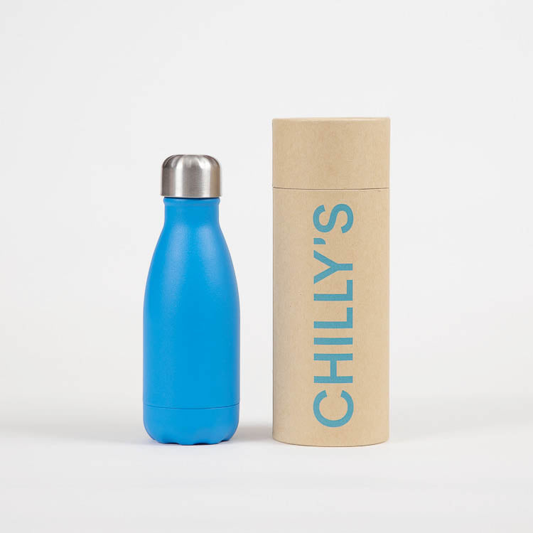Chilly's Neon Blue Drinking Bottle 260ml