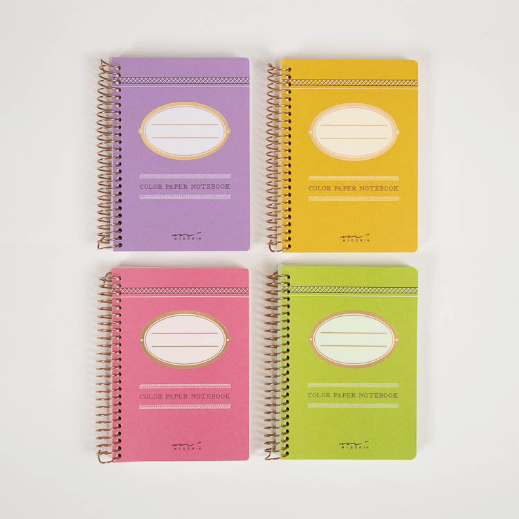A group of 4 Midori Colour Paper A7 Notebooks