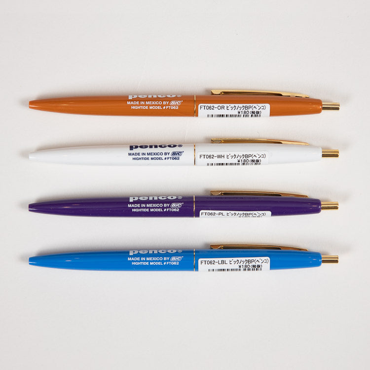 A group of 4 Penco BIC Clic Ballpoint Pens