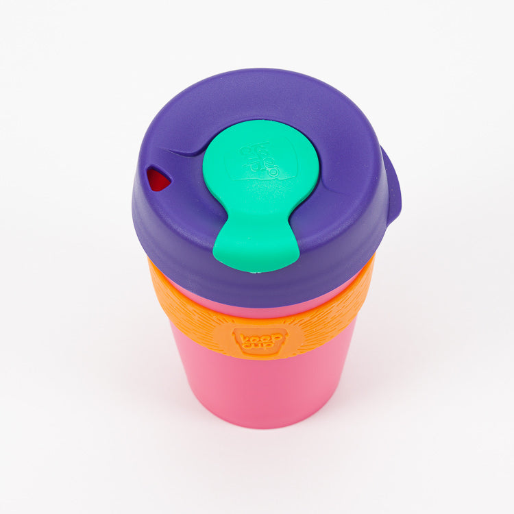 Product shot of KeepCup Kinetic Reusable Travel Cup 340ml - Top view