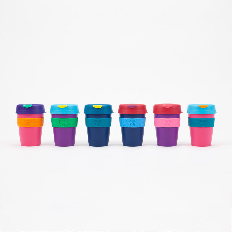 Product shot of group of KeepCup Reusable Travel Cups 340ml