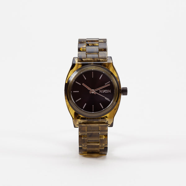 Product shot of Nixon Olive Medium Time Teller Acetate Watch