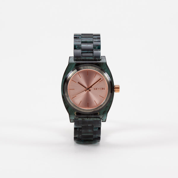 Product shot of Nixon Aqua Medium Time Teller Acetate Watch