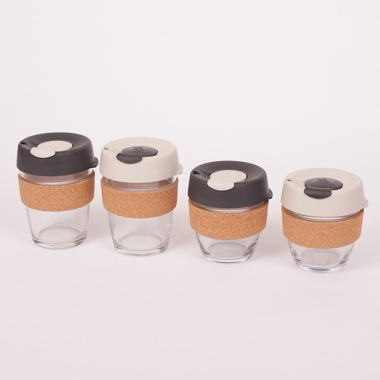 KeepCup Brew Glass Reusable Cups available from Roo's Beach UK