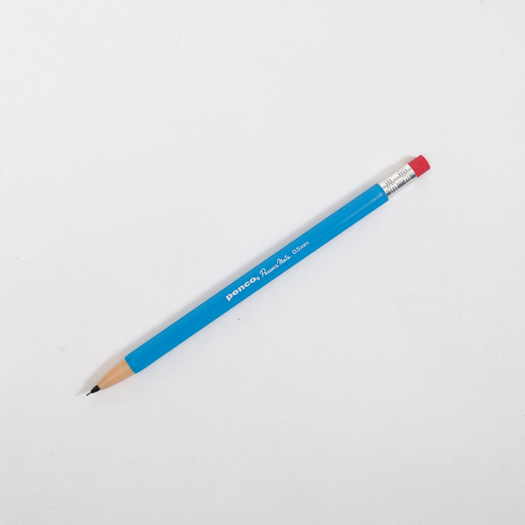 Product shot: Penco Passers Mate Blue 0.5mm Pencil on a white background