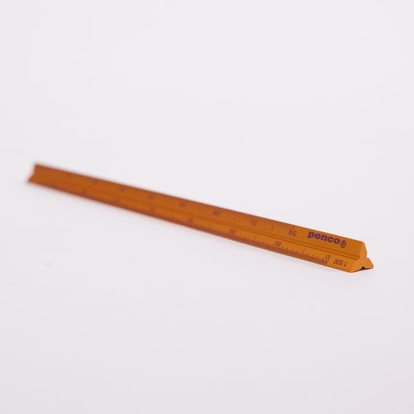 Product shot: a Penco Hightide Gold Drafting Scale Ruler on a white background