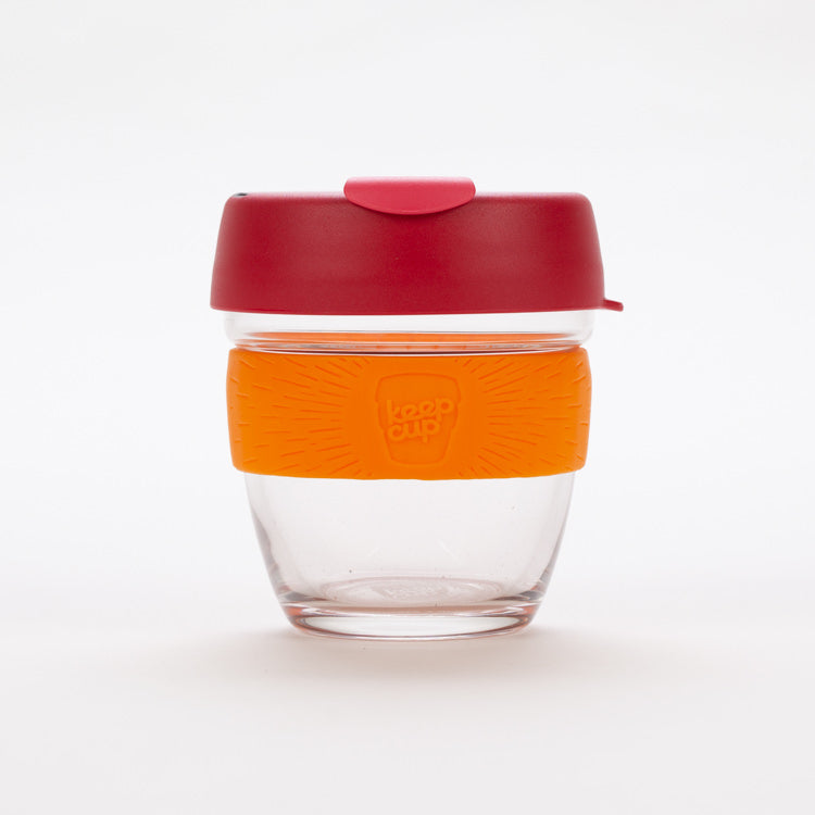 Product shot of KeepCup Brew Solar Glass Reusable 227ml / 8oz Cup
