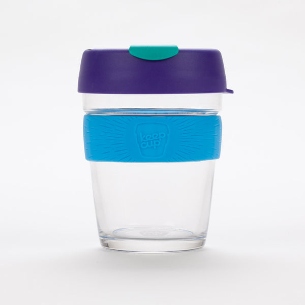 Product shot of KeepCup Brew Tidal Glass Reusable 12oz / 340ml Cup