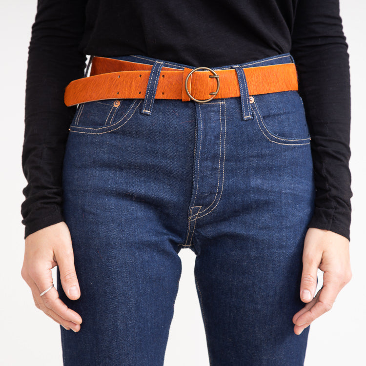 Bellerose Selya Piment Orange Leather Belt